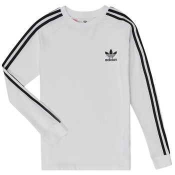 material Children Long sleeved shirts adidas Originals 3STRIPES LS White
