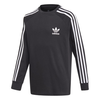 material Boy Long sleeved shirts adidas Originals 3STRIPES LS Black