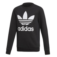 material Children sweaters adidas Originals TREFOIL CREW Black