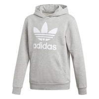 material Children sweaters adidas Originals TREFOIL HOODIE Grey