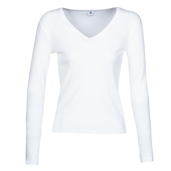 material Women Long sleeved shirts Petit Bateau 58315 White