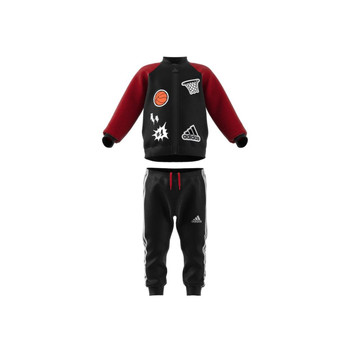 material Boy Sets & Outfits adidas Performance COLL MIX TS Black / Red