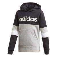 material Boy sweaters adidas Performance YB LIN CB HD FL Black / Grey