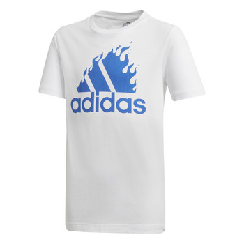 material Boy short-sleeved t-shirts adidas Performance JB BOS GRAPH White