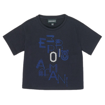 material Girl short-sleeved t-shirts Emporio Armani 6H3T7R-2J4CZ-0926 Marine