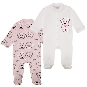 material Girl Sleepsuits Emporio Armani 6HHV06-4J3IZ-F308 Pink