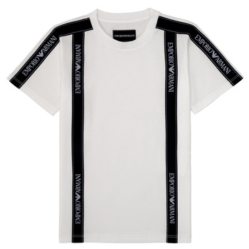 material Boy short-sleeved t-shirts Emporio Armani 6H4TG4-1JTUZ-0101 White