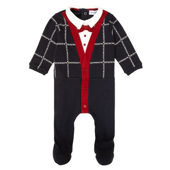 material Boy Sleepsuits Emporio Armani 6HHD12-4J3WZ-F912 Marine