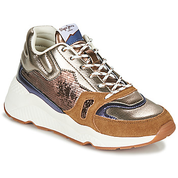 Shoes Women Low top trainers Pepe jeans HARLOW SPACE Bronze