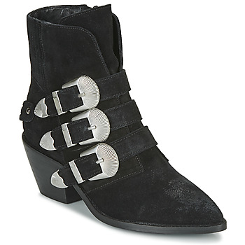 Shoes Women Mid boots Pepe jeans WESTERN W BUCKLE Black