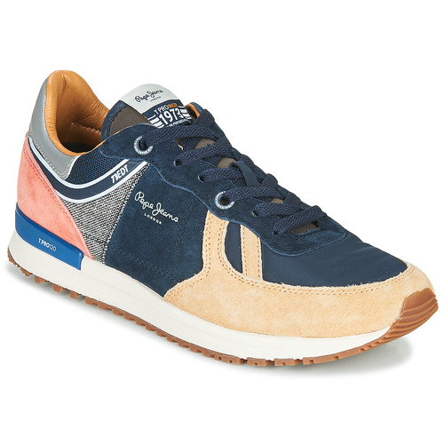 Pepe Jeans Tinker Pro 73 Marine Brown Fast Delivery Spartoo Europe Shoes Low Top Trainers Men 79 92