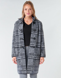 material Women coats Derhy SAISON Grey / Black