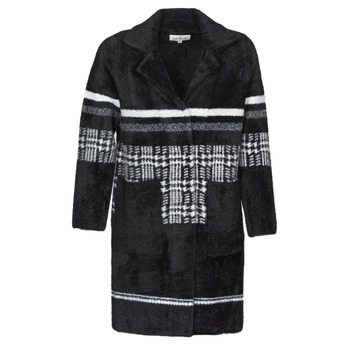 material Women coats Derhy SALAMANDRE Black / Grey