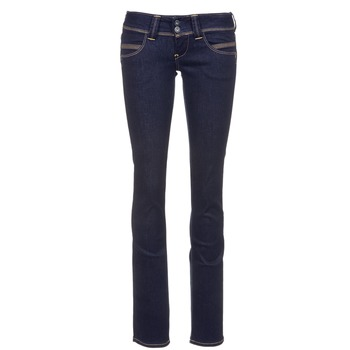 material Women straight jeans Pepe jeans VENUS Blue / M15