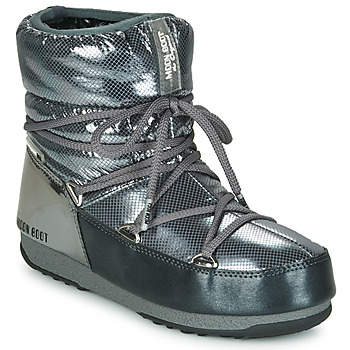 Shoes Women Snow boots Moon Boot MOON BOOT LOW SAINT MORITZ WP Grey