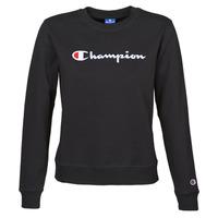 material Women sweaters Champion HEAVY COMBED COTTON FLEECE Black