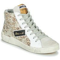 Shoes Women High top trainers Meline NK5050 Beige / Leopard