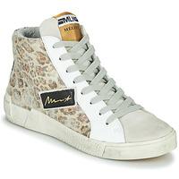 Shoes Women High top trainers Meline NK5050 Beige / Leopard
