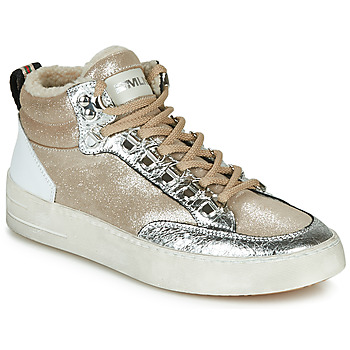 Shoes Women High top trainers Meline STRA5056 Beige / Gold