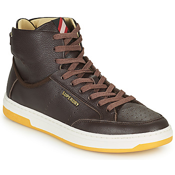 Shoes Men High top trainers Superdry PREMIUM BASKET LUX TRAINER Brown