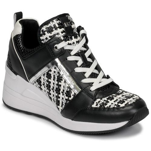Shoes Women Low top trainers MICHAEL Michael Kors GEORGIE TRAINER Black / White