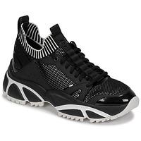 Shoes Men Low top trainers MICHAEL Michael Kors LUCAS Black / White