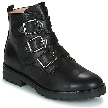 Shoes Girl Mid boots Acebo's 9843VE-NEGRO-T Black