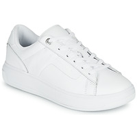 Shoes Women Low top trainers Tommy Hilfiger LEATHER TOMMY HILFIGER CUPSOLE White