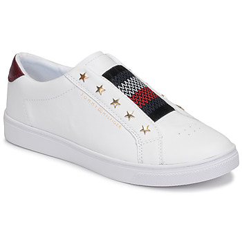 Shoes Women Low top trainers Tommy Hilfiger TOMMY HILFIGER ELASTIC SLIP ON White