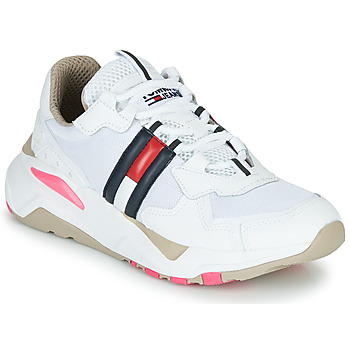 Shoes Women Low top trainers Tommy Jeans WMN TOMMY JEANS COOL RUNNER White / Blue / Red