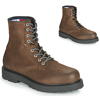 Shoes Men Mid boots Tommy Jeans NUBUCK WARMLINED LACE UP BOOT Brown