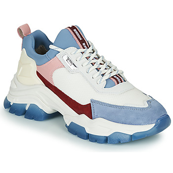 Shoes Women Low top trainers Bronx TAYKE OVER White / Blue
