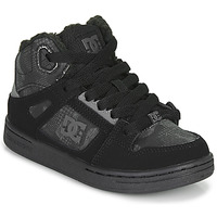 Shoes Children High top trainers DC Shoes PURE HIGH-TOP Black / Grey