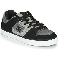 Shoes Men Low top trainers DC Shoes PURE Black / Grey