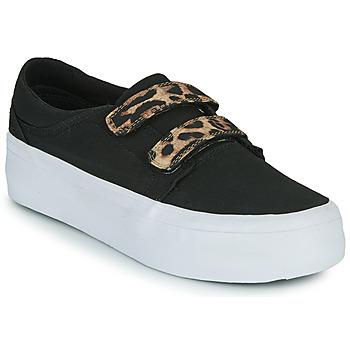 Shoes Women High top trainers DC Shoes TRASE PLATEFORM V Black / Leopard