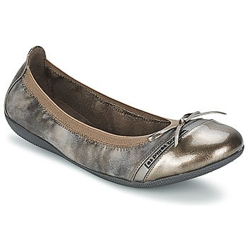 Shoes Women Ballerinas Les P'tites Bombes CAPRICE METAL Grey