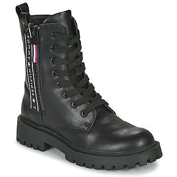 Shoes Children Mid boots Tommy Hilfiger T3A5-30851 Black