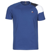 material Men short-sleeved t-shirts Le Coq Sportif ESS TEE SS N°10 M Blue
