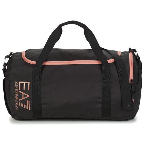 Bags Men Sports bags Emporio Armani EA7 TRAIN CORE U GYM BAG SMALL Black / Pink