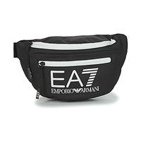 Bags Men Bumbags Emporio Armani EA7 TRAIN CORE U SLING BAG Black / White
