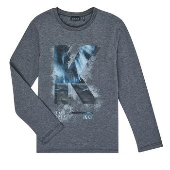 material Boy Long sleeved shirts Ikks XR10203 Grey