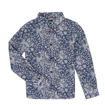 material Boy long-sleeved shirts Ikks XR12023 Blue