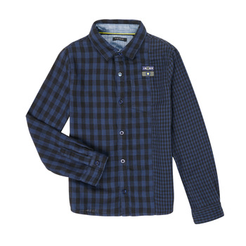 material Boy long-sleeved shirts Ikks XR12123 Blue