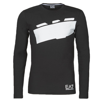 material Men Long sleeved shirts Emporio Armani EA7 TRAIN GRAPHIC SERIES M EAGLE TEE LS Black / White