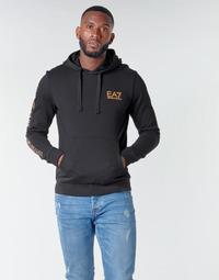 material Men sweaters Emporio Armani EA7 TRAIN LOGO SERIES M HOODIE RN COFT Black