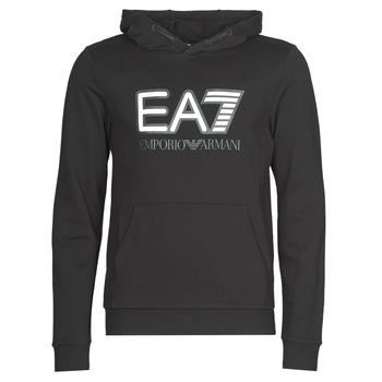 material Men sweaters Emporio Armani EA7 TRAIN VISIBILITY M HOODIE RN COFT Black