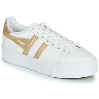 Shoes Women Low top trainers Gola ORCHID PLATEFORM White / Gold