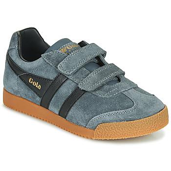 Shoes Children Low top trainers Gola HARRIER VELCRO Grey / Black