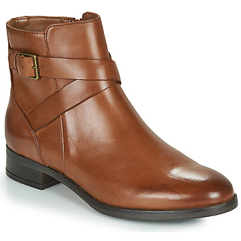 Shoes Women Mid boots Clarks HAMBLE BUCKLE Brown