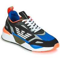 Shoes Men Low top trainers Emporio Armani EA7 XK165 Black / Blue / Orange